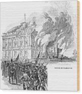 Washington Burning, 1814 Wood Print
