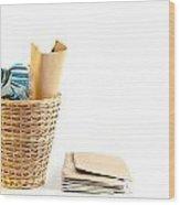 Waste Paper Bin Wood Print