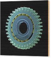 Watch Cog, Sem Wood Print by Steve Gschmeissner