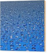 Water Drops On A Shiny Surface Wood Print