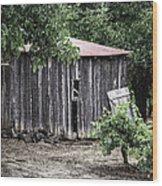 Watercolor Barn Wood Print by Joan Carroll