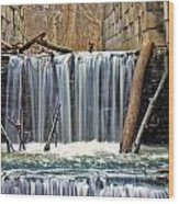 Waterfalls At Old Erie Canal Locks Wood Print