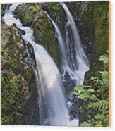 Waterfalls Of Sol Duc River, Olympic Wood Print