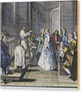 Wedding, C1730 Wood Print
