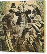 Weightlessness, 19th Century Wood Print