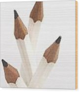 White Pencils Wood Print