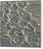 White Sand Turns Almost To A Silvery Wood Print by Todd Gipstein