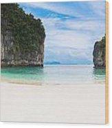 White Sandy Beach In Thailand Wood Print