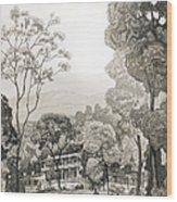 White Sulphur Springs Wood Print