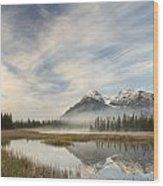 Whitegoat Lake And Mount Elliot Wood Print