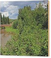 Wild Roses On Whitemud Creek Wood Print