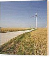 Wind Turbine, Humberside, England Wood Print