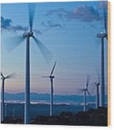 Wind Turbines Wood Print by David Nunuk