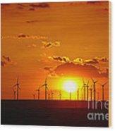 Wind Turbines Wood Print by Gabriela Insuratelu