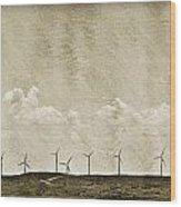 Windmills In A Row Wood Print