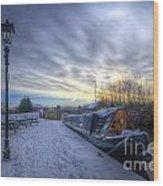 Winter At The Boat Inn Wood Print