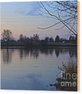 Winter Calm Wood Print