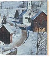 Winter Countryside Wood Print