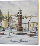 Winter In Twyn Square Wood Print