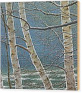 Winter Is Over Wood Print