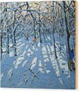 Winter Woodland Near Newhaven Derbyshire Wood Print