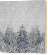 Wintertime Wood Print