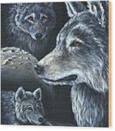 Wolf Trio Wood Print