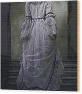 Woman On Steps Wood Print by Joana Kruse