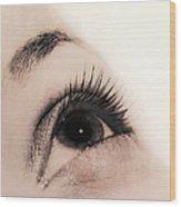 Woman's Eye Wood Print