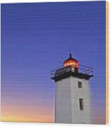 Wood End Lighthouse In Provincetown On Cape Cod Massachusetts  Wood Print