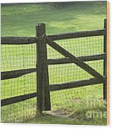 Wood Fence Wood Print