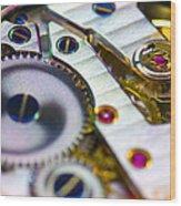 Wrist Watch Interior Wood Print by Pasieka