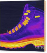 X-ray Of A Hiking Boot Wood Print
