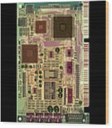 X-ray Of Sound Card Wood Print by D. Roberts