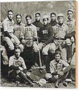 Yale Baseball Team, 1901 Wood Print