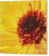 Yellow Floral 01 Wood Print