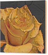 Yellow Rose Art Wood Print