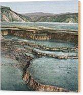 Yellowstone: Hot Spring Wood Print