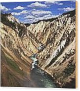 Yellowstone River Below Lower Falls  Wood Print