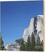 Yosemite Half Dome Wood Print