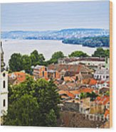 Zemun Rooftops In Belgrade Wood Print