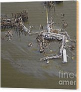 Hurricane Katrina Damage Wood Print