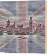 London  Skyline Big Ben Wood Print