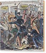 New York: Draft Riots Wood Print