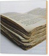 Old Book Wood Print