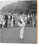 Silent Film Still: Golf Wood Print