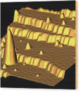Spintronics Research, Stm Wood Print by Drs A. Yazdani & D.j. Hornbaker