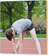 Stretching Exercises Wood Print