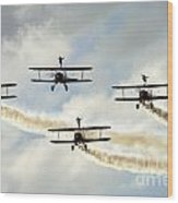 Wingwalkers Wood Print
