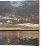 10000 Islands Sunset Wood Print
